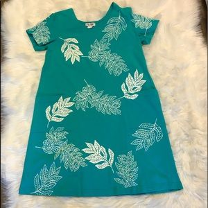 M. Mac Turquoise & White Cover Up Short Sleeve